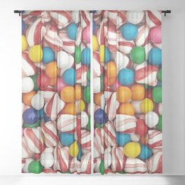 Peppermints and Gumballs Sheer Curtain