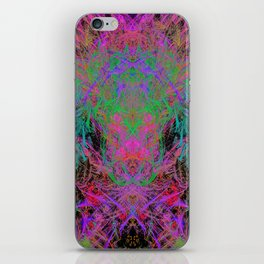 Witch Doctor Fire (psychedelic, ultraviolet) iPhone Skin