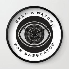 Keep a watch for Sasquatch Wall Clock