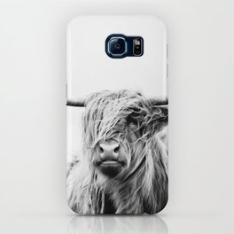 portrait of a highland cow iPhone Case