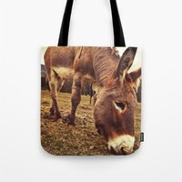 donkey Tote Bags featuring Donkey by Vic Torys