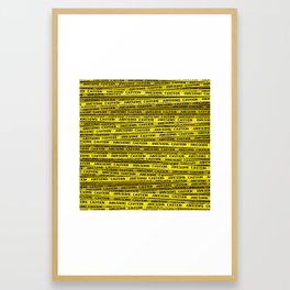 AWESOME, use caution / 3D render of awesome warning tape Framed Art Print
