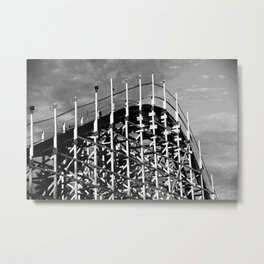 Santa Cruz Coaster Metal Print
