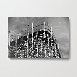 Santa Cruz Coaster Metal Print