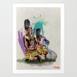 "African+British ""Tribal Celebration"" Art Print"
