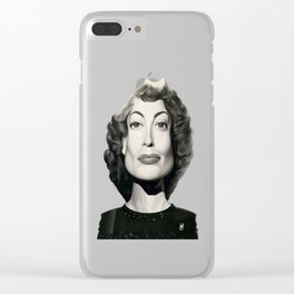 Joan Crawford Clear iPhone Case