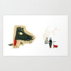 The seven little goats Art Print