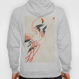 Cocorico cover 1900 Two Pink Flamingos Hoody