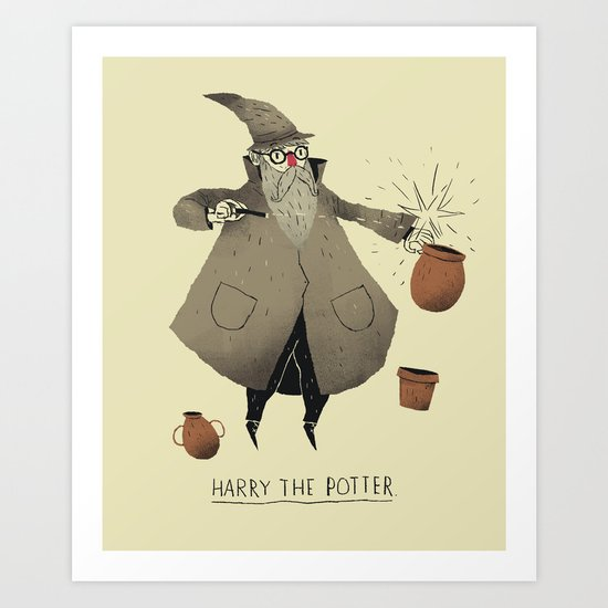 the potter. Art Print