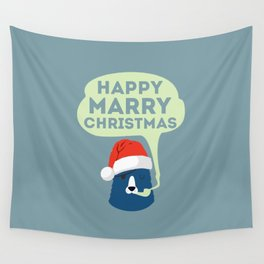 Christmas Mr. Bear Wall Tapestry