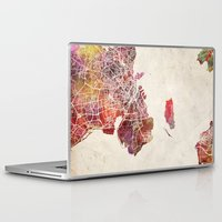 copenhagen Laptop & iPad Skins featuring Copenhagen by MapMapMaps.Watercolors
