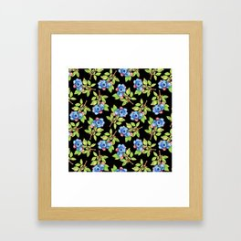 Wild Blueberry Sprigs Framed Art Print