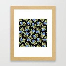 Wild Blueberry Sprigs Framed Art Print