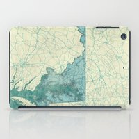 maryland iPad Cases featuring Maryland State Map Blue Vintage by City Art Posters