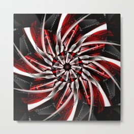 Blossom silver red 2 Metal Print