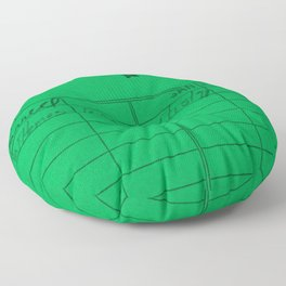 Library Card 797 Green Floor Pillow