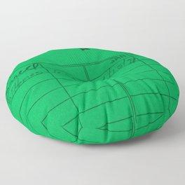 Library Card 797 Green Floor Pillow