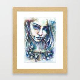 Blueberry Binge Framed Art Print