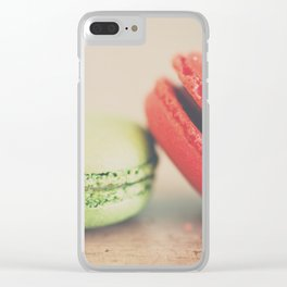 pistachio & strawberry ... Clear iPhone Case
