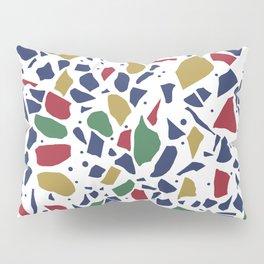 Terrazzo Spot Color on White Pillow Sham