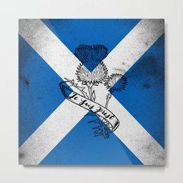 SCOTLAND FLAG JE SUIS PREST Metal Print