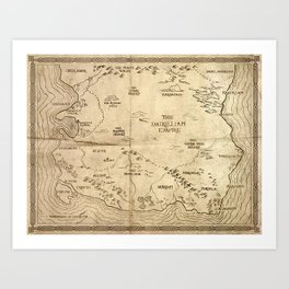Map of Imirillia Art Print