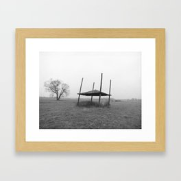 Field Shelter in Rain (Locice, Poland)   Framed Art Print