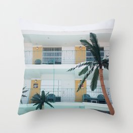 Retro Motel in Wildwood, New Jersey Throw Pillow