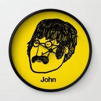 john snow Wall Clocks featuring John. by Matheus Lopes