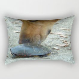 Curious Dog Painted Turtle Rectangular Pillow