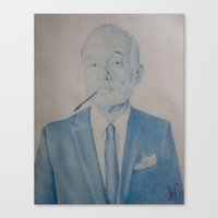 bill murray Canvas Prints featuring Bill Murray by prestone85