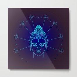 Buddha head symbol Metal Print