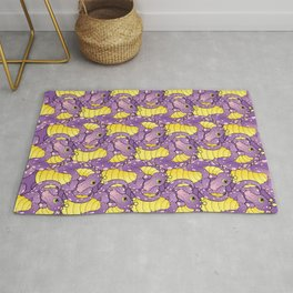 pink and purple dragon pattern Rug