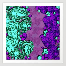 Rosen Teal Art Print