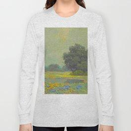 Granville Redmond (1871-1935) Landscape Flower Field Long Sleeve T-shirt