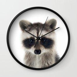 Baby Racoon Wall Clock