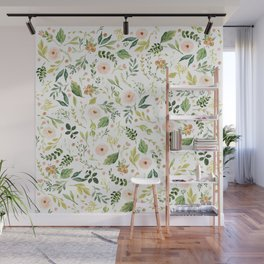 Botanical Spring Flowers Wall Mural