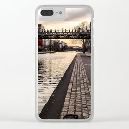 Walking through La Villette Clear iPhone Case