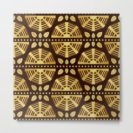 Chocolate Art Deco Fan Metal Print
