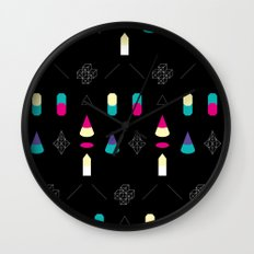 Play on Black Wall Clock