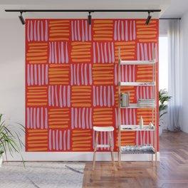 Bright Modern Woven Pattern Wall Mural