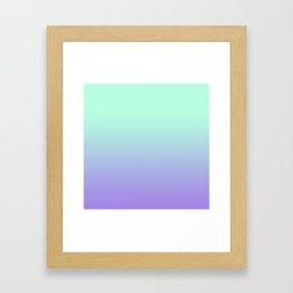 MINT/PURPLE FADE Framed Art Print