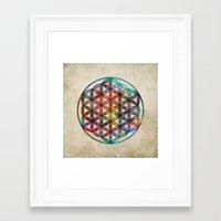 flower of life Framed Art Prints featuring Flower of Life by Klara Acel