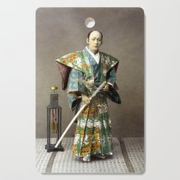 Kusakabe Kimbei - Samurai - Original old vintage retro Photography from Japan Cutting Board