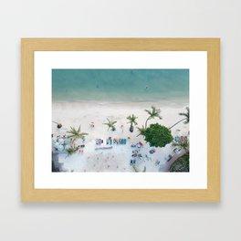 Aerial Koh Phangan Beach Framed Art Print