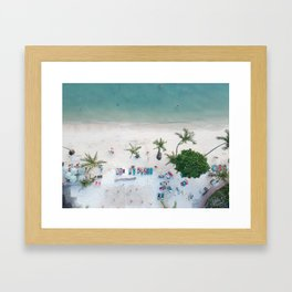 Aerial Koh Phangan Beach Framed Art Print