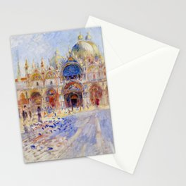 "Auguste Renoir ""The Piazza San Marco, Venice"" Stationery Cards"