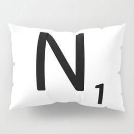 Letter N - Custom Scrabble Letter Tile Art - Scrabble N Initial Pillow Sham