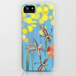 Australia Floral Blue Sky Watercolor iPhone Case