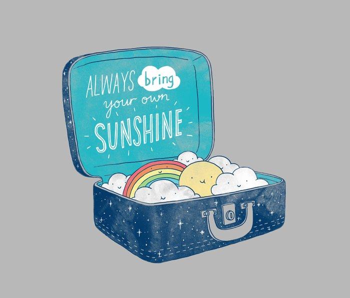 Always bring your own sunshine Metal Travel Mug